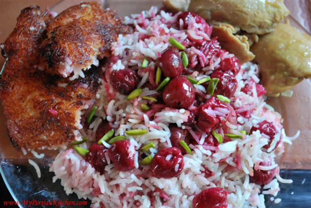 rice with sour cherries sour cherry rice albalu polo albaloo polow