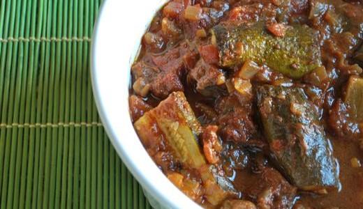 Khoresht Kadoo ~ Persian Zucchini Stew