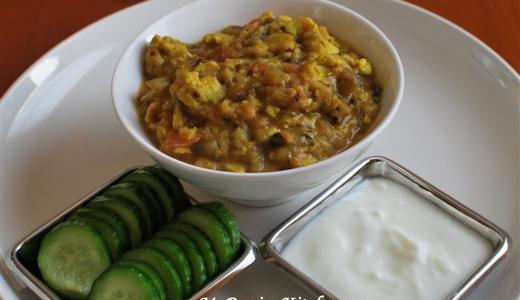 Mirza Ghassemi ~ A Persian Eggplant, Tomato, and Egg Dish