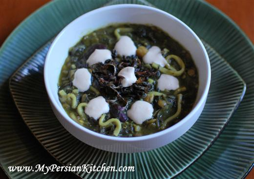 Persian New Year's Soup With Beans, Noodles, And Herbs ...