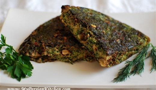 Kuku Sabzi ~ Persian Frittata With Fresh Herbs