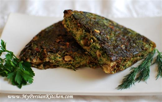 Kuku Sabzi ~ Persian Frittata With Fresh Herbs - My Persian Kitchen