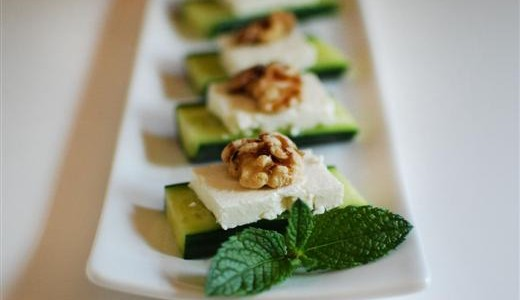 Cucumber, Feta, & Walnut