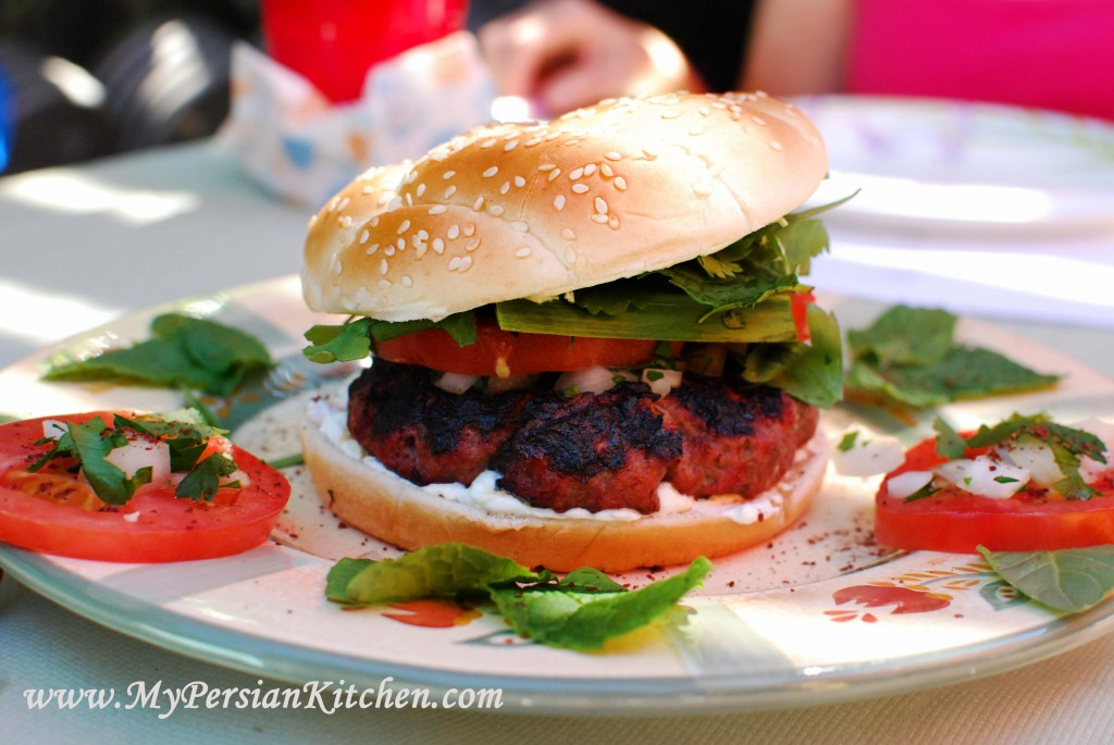 Persian burger my persian kitchen for Aria persian cuisine