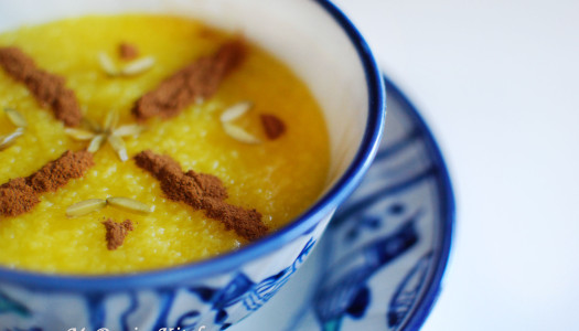 Sholeh Zard ~ Persian Saffron Rice Pudding
