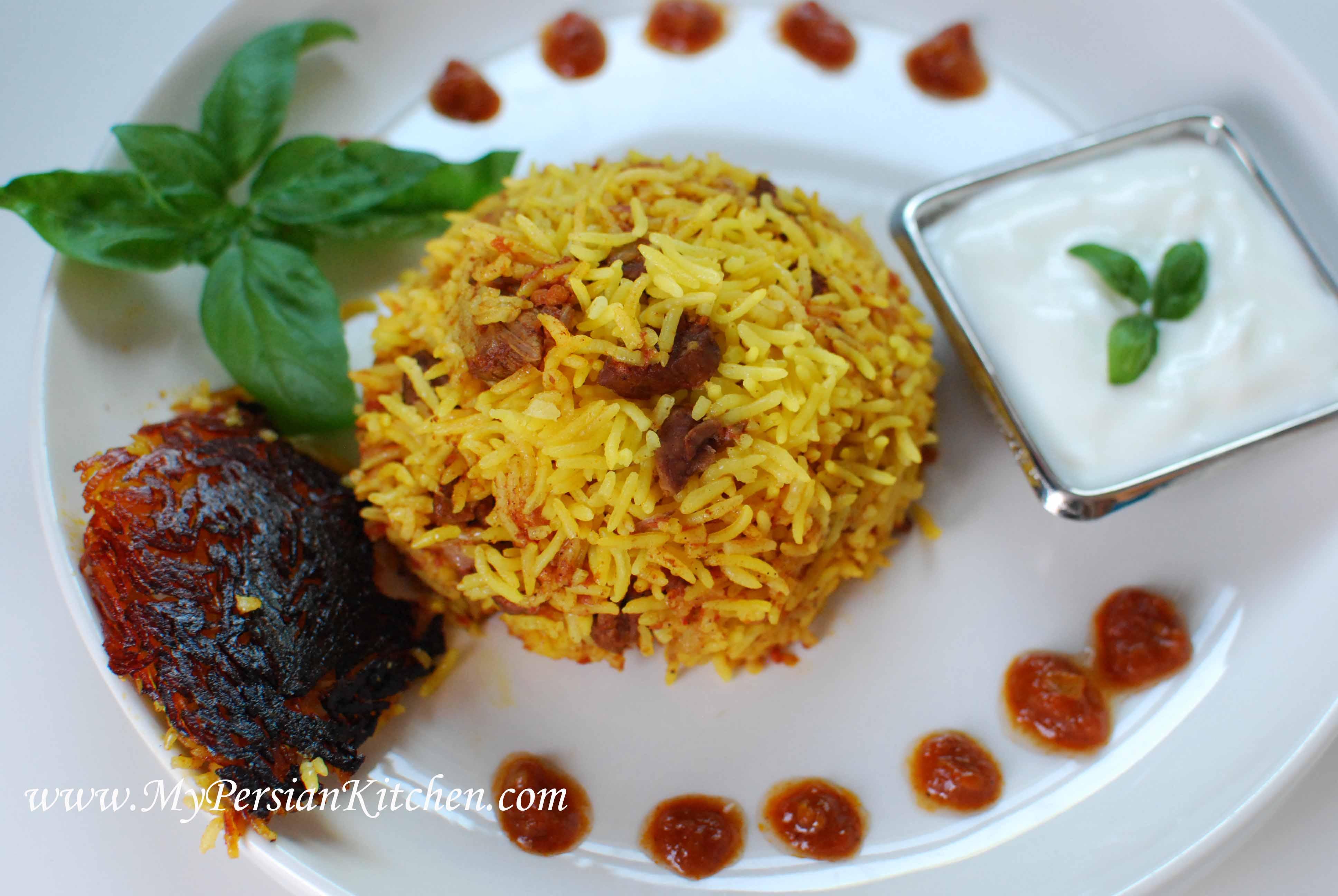 Estamboli or eslamboli polow persian tomato rice my persian kitchen for forumfinder Choice Image