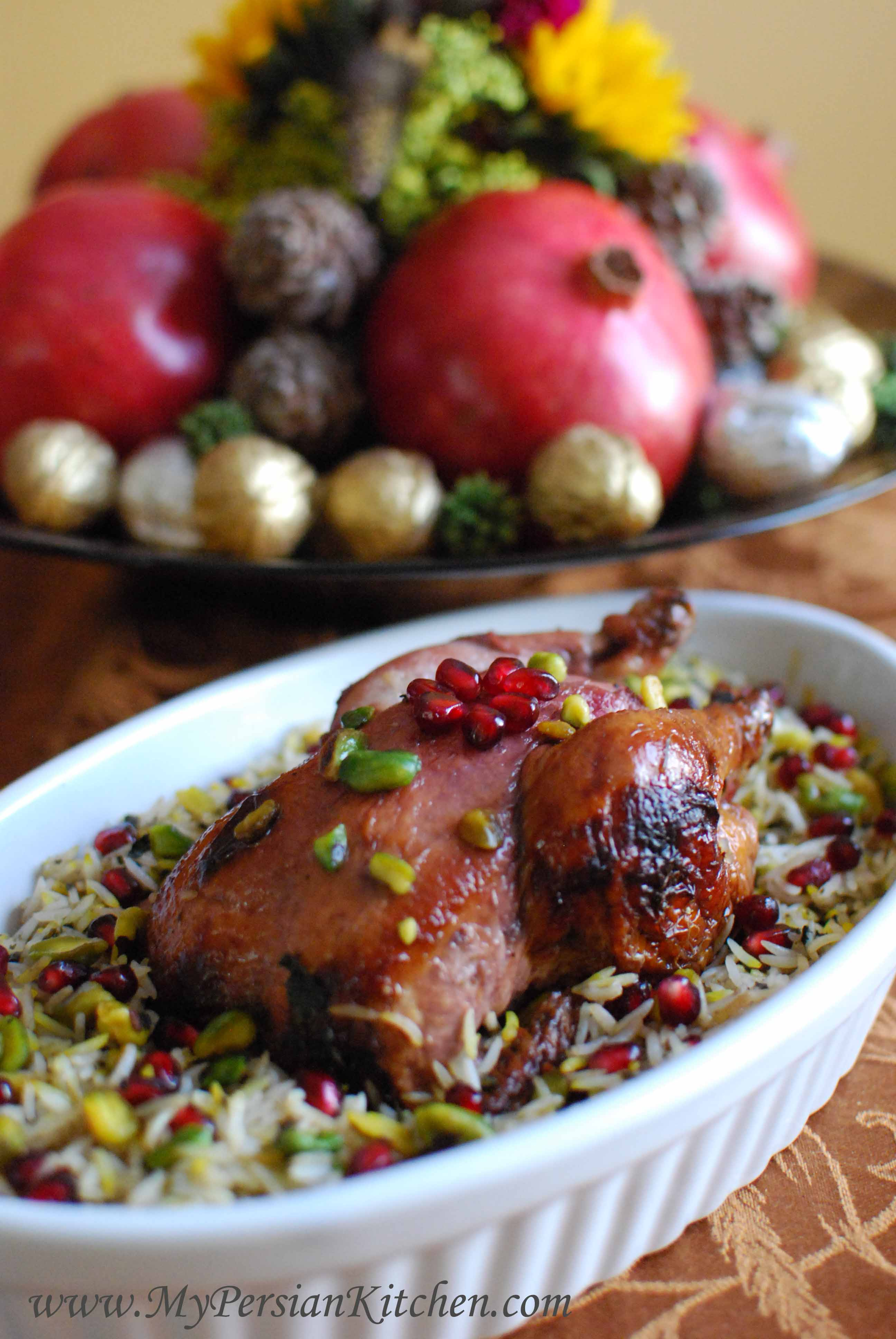 Pomegranate & Lime Glazed Cornish Hens