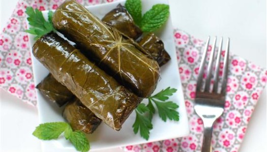 Dolmeh Bargeh Mo ~ Stuffed Grape Leaves