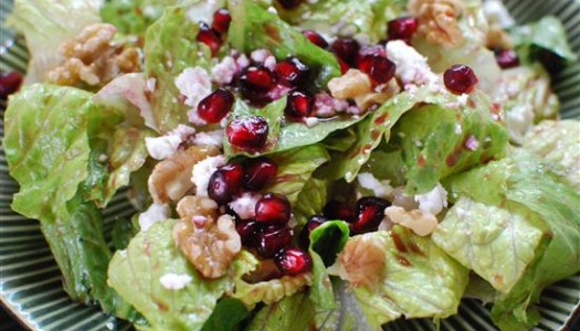 Festive Salad with Pomegranate Vinaigrette
