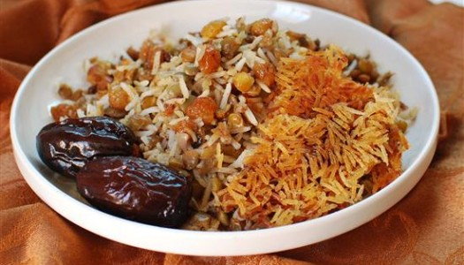 Adas Polow ~ Persian Lentil Rice