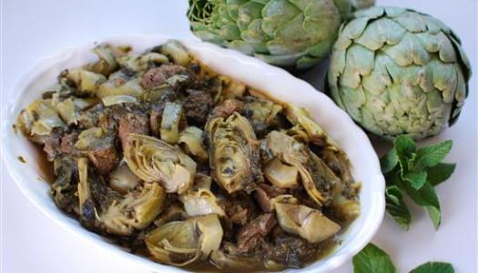 Khoresht Artichoke ~ Persian Artichoke Stew