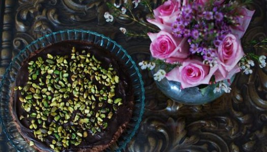 Chocolate Shortbread with Pistachios