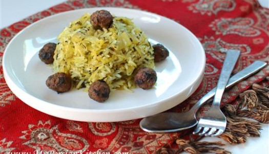 Kalam Polow Shirazi ~ Cabbage Rice from Shiraz