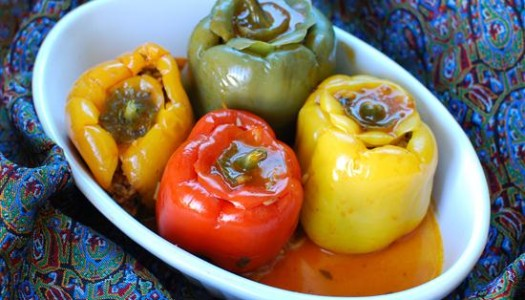 Dolmeh Felfel ~ Persian Stuffed Bell Peppers