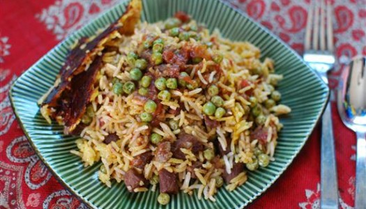 Nokhod Sabz Polow ~ Persian Rice with Green Peas