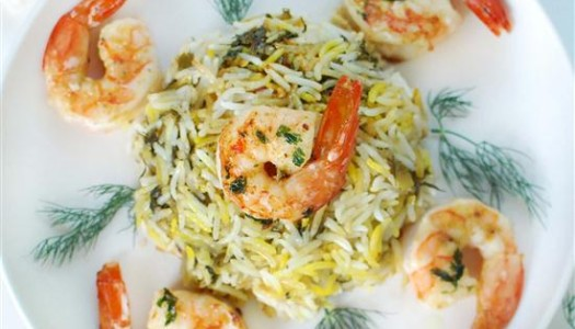 Food of Life: Rice with Shrimp and Fresh Herbs Persian Gulf-Style