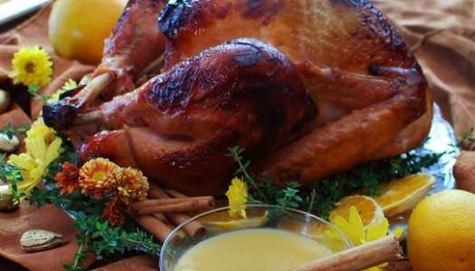 Turkey with Orange & Cinnamon Glaze