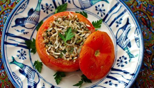 Dolmeh-ye Ghojeh Farangi ~ Persian Stuffed Tomato