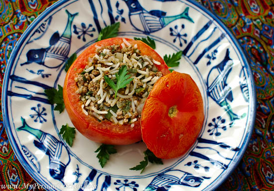 Dolmeh ye ghojeh farangi persian stuffed tomato my persian kitchen before forumfinder Image collections