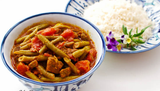 Khoresht Lubia Sabz ~ Persian Green Bean Stew