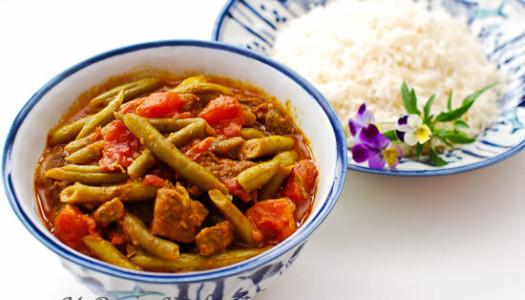 Khoresht Lubia Sabz ~ Persian Green Bean Stew