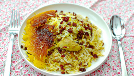 Morgh Polow ~ Persian Rice & Chicken