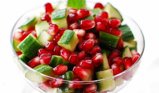 Cucumber & Pomegranate Salad
