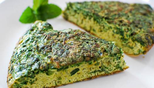Barg-eh Karafs Kuku ~ Celery Leaf Kuku