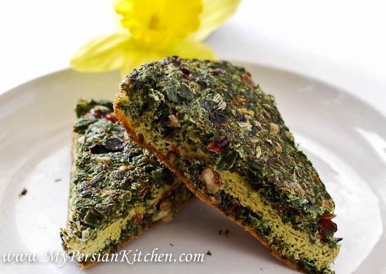norouz persian new year kuku gluten free sabzi kuku with dried herbs ...
