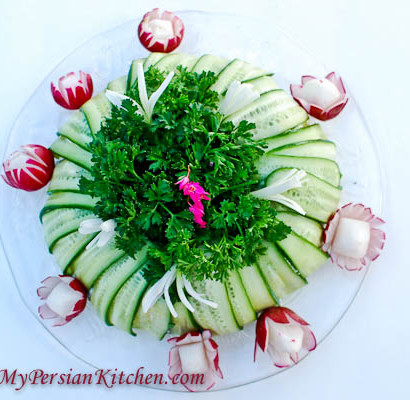 Persian Potato Salad Wrapped in Cucumbers-3