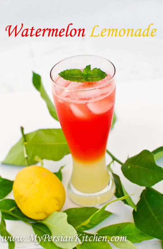 Watermelon Lemonade - My Persian Kitchen