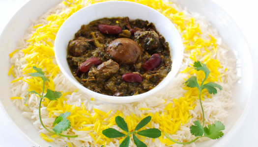 Slow Cooker Ghormeh Sabzi ~ Persian Herb Stew