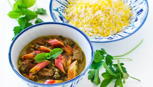 Khoresht Rivas ~ Persian Rhubarb Stew