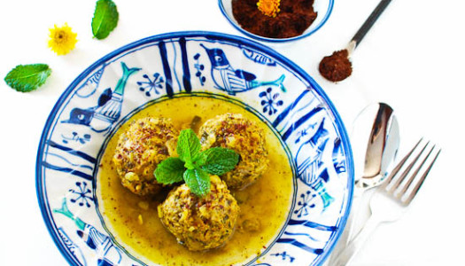 Koofteh Somagh ~ Persian Rice Meatballs with Sumac