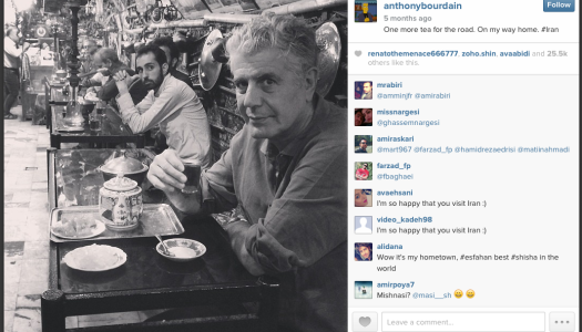 Anthony Bourdain and Persian Cuisine