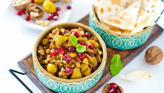 Zeytoon Parvardeh ~ Persian Pomegranate, Olive, & Walnut Dip
