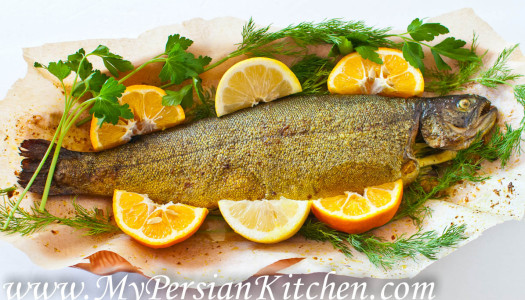 Ghezel Ala ba Narenj ~ Trout with Bitter Orange