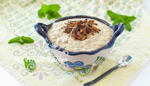 Borani-e Kadoo ~ Yogurt & Zucchini