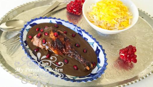 Fesenjan ba Ordak  ~ Pomegranate Stew with Duck