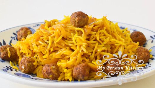 Kalam Polow Ba Zafaran ~ Cabbage Rice With Saffron