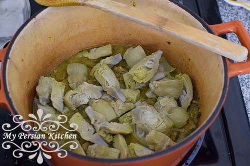 Fava Bean & Artichoke Khoresht-4