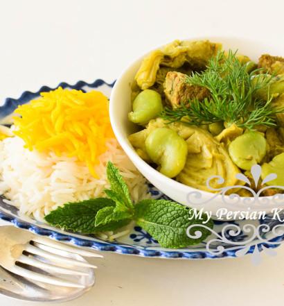 Fava Bean & Artichoke Khoresht