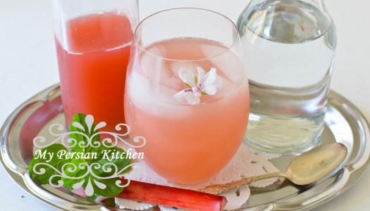 Sharbat-eh Rivas ~ Rhubarb Syrup